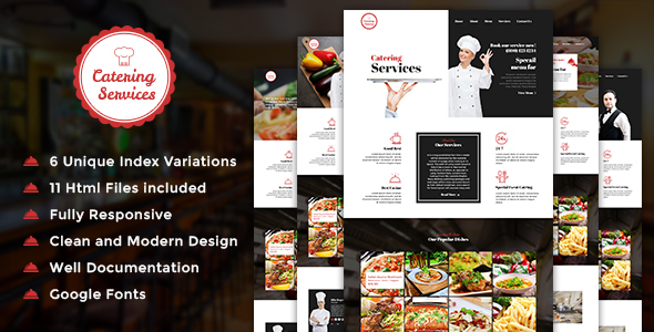 Catering - Restaurant HTML Template