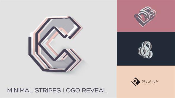 Minimal Stripes Logo Reveal