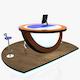 Virtual Tv Studio News Podium Desk Chair Imac27 Ipad2 - 3DOcean Item for Sale