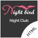Night Bird - Dance Club HTML Template - ThemeForest Item for Sale