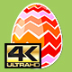 Four Rotating Different Easter Egg Designs Elements 4K - VideoHive Item for Sale