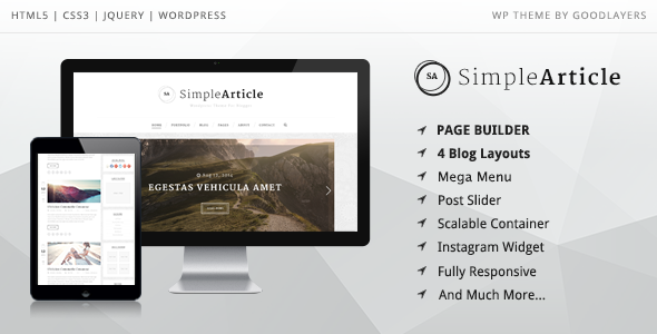Simple Article - WordPress Theme For Personal Blog Download
