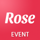 Rose - Event Landing Page Template - ThemeForest Item for Sale