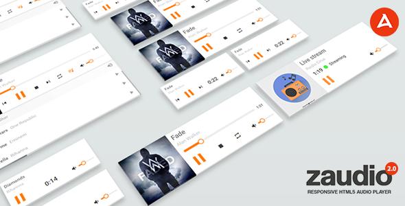 Zaudio - HTML5 JavaScript Audio Player