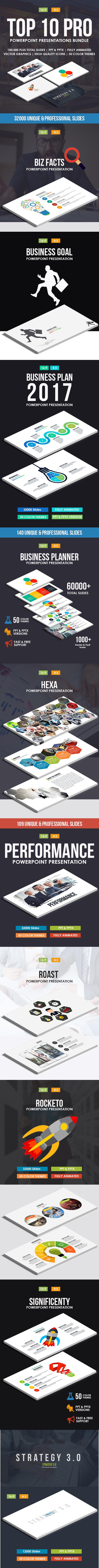 Top 10 IN 1 Pro Powerpoint Templates Bundle
