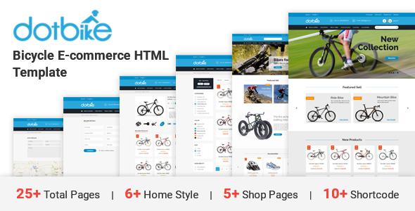 DotBike - Bicycle e-commerce HTML Template