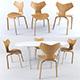 Fritz Hansen Chait+Table - 3DOcean Item for Sale