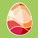 Four Red Rotating Different Easter Egg Designs Elements - VideoHive Item for Sale