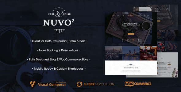 NUVO2 - Cafe & Restaurant WordPress Theme