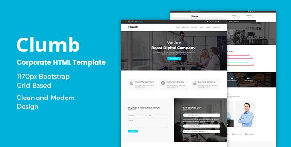 Clumb – Corporate HTML Template