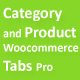 Category and Product Woocommerce Tabs Pro - CodeCanyon Item for Sale