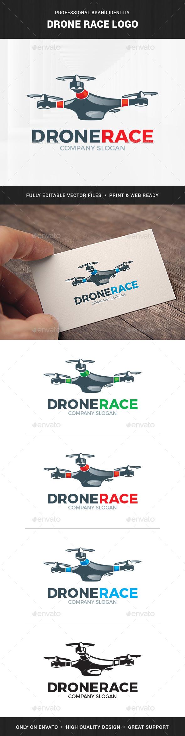 Drone Race Logo Template
