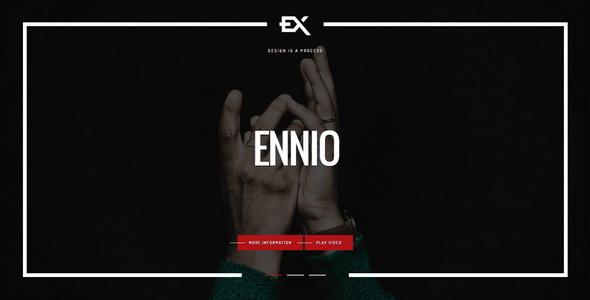 Ennio    Creative Portfolio Template