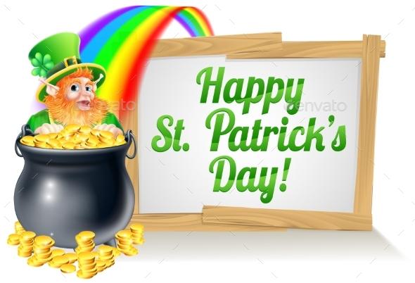 St Patricks Day Sign 2015 B1