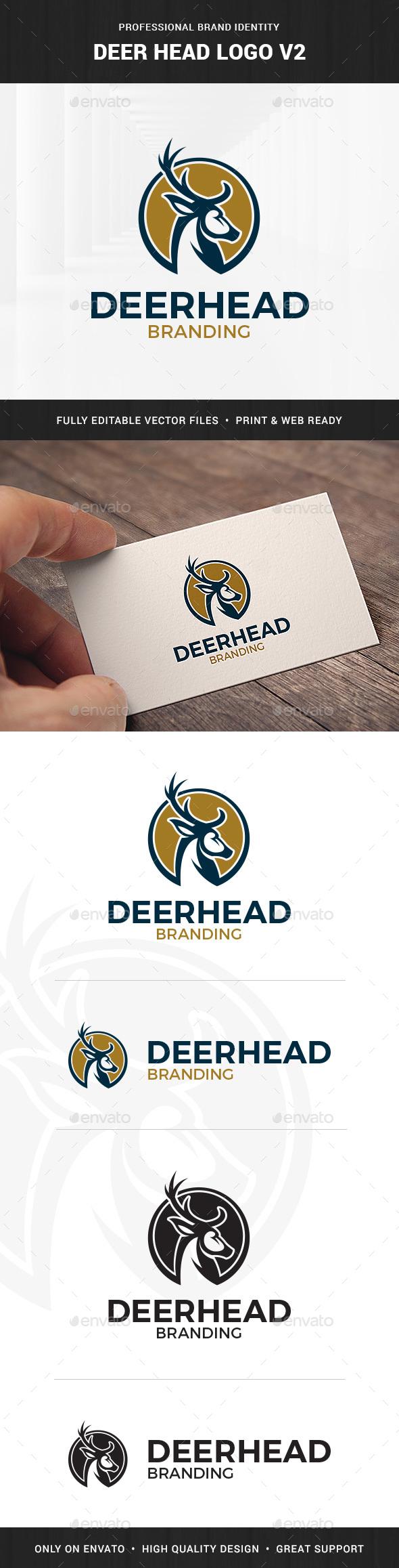 Deer Head Logo Template v2