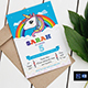 Unicorn Birthday Party Invitation Template - GraphicRiver Item for Sale