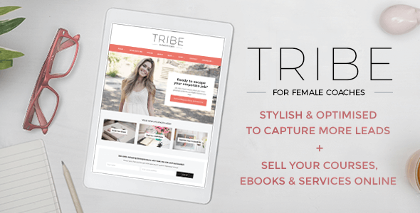 Tribe Coach - Feminine Coaching Business WordPress Theme