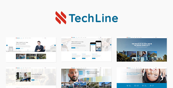 TechLine – Web services and business theme