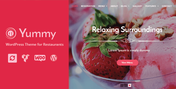 Yummy - Restaurant & Food Ordering WordPress Theme + Woocommerce