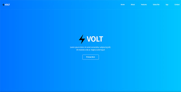 Volt - Responsive App & Software Template