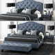 LuXeo Brentwood Queen Tufted Bed - 3DOcean Item for Sale