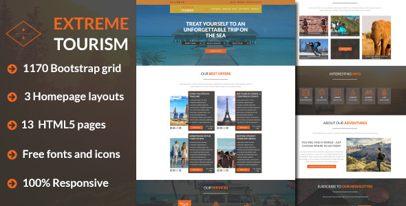 ExT – Tourism & Adventure HTML5 Template