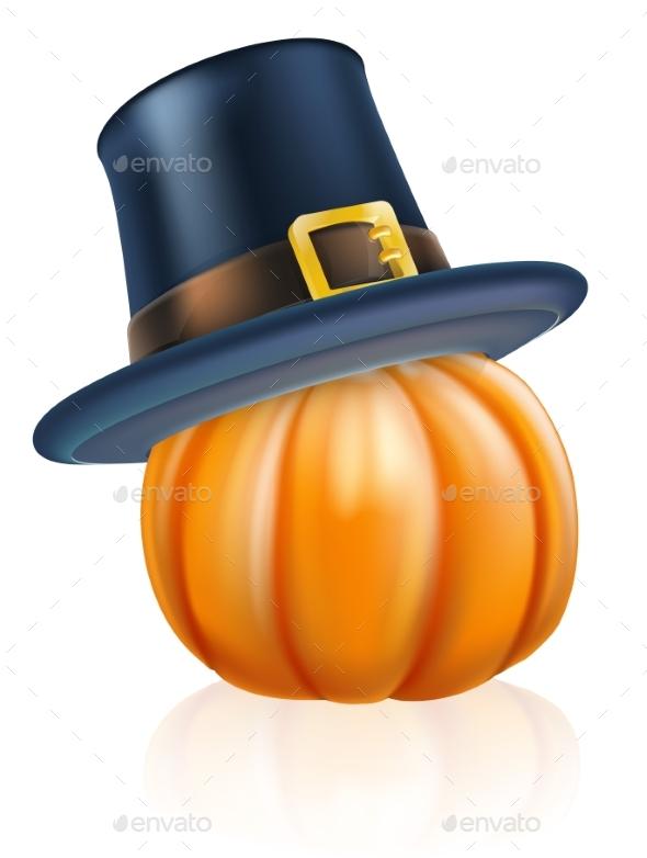 Thanksgiving Pilgrim Hat Pumpkin
