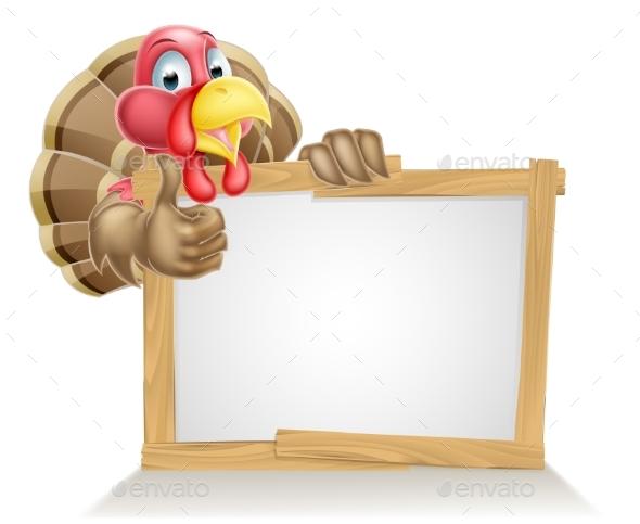 Cartoon Turkey Sign
