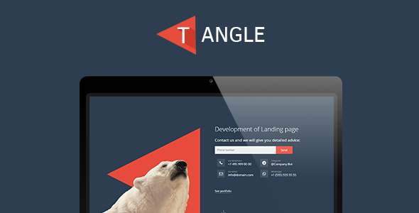 T-Angle - landing page template