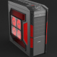 Realistic Illuminated Gaming Computer Desktop PC Case - 3DOcean Item for Sale