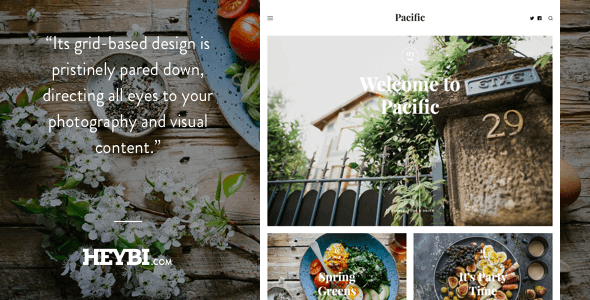 Pacific: Big Bold Photo-Based Theme