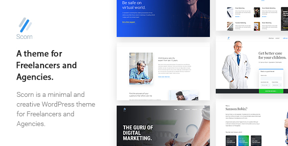 Scorn - Portfolio WordPress theme for Freelancers and Agencies