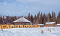 the winter village Katanda, Altai, Siberia, Russia - PhotoDune Item for Sale