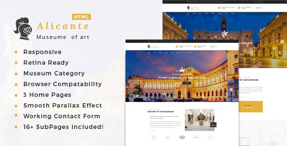 Alicante - Museum & Exhibition HTML Template