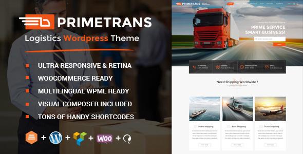 PrimeTrans   Logistics HTML Template