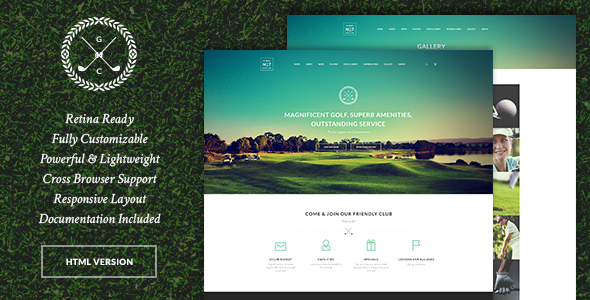 N7 | Golf Club, Sports & Events Site Template