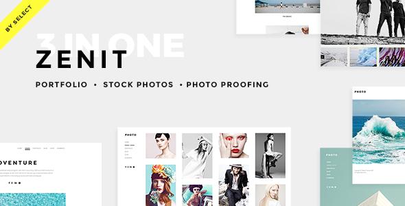 Zenit - Clean Photography Theme