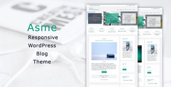 Asme - Responsive WordPress Blog Theme