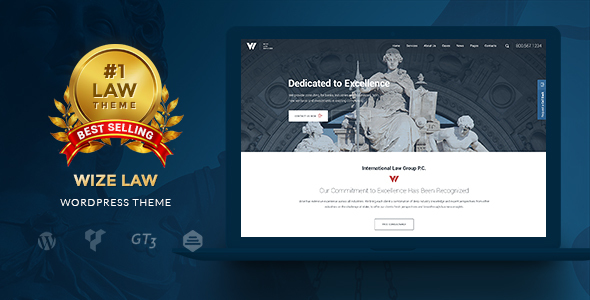 WizeLaw | Lawyer and Law Attorney Service WP Theme