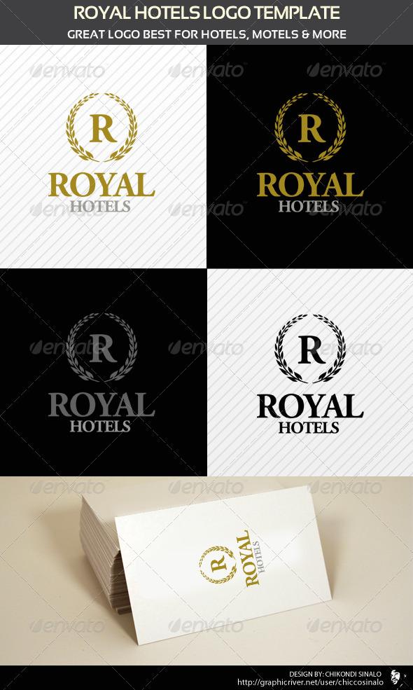 Royal Hotels Logo Template