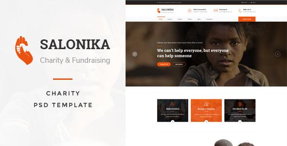 Salonika - Charity PSD Template
