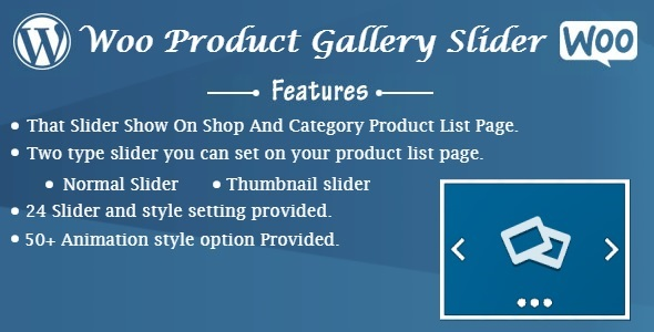 Woo Product Gallery Slider
