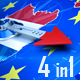 Compass Arrow Shows To French Election - VideoHive Item for Sale