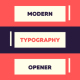 Modern Typography Opener - VideoHive Item for Sale