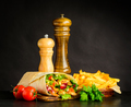 Shawarma with French Fries and Tomato - PhotoDune Item for Sale
