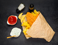 French Fries and Baked Fish - PhotoDune Item for Sale