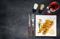 Cooked Prawns with Rose Wine on Copy Space - PhotoDune Item for Sale