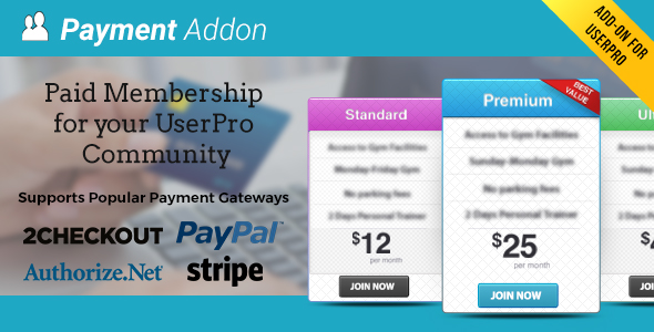 Payment Addon for UserPro Download
