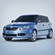 Vray Ready Skoda Fabia Car - 3DOcean Item for Sale