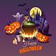 Happy Halloween Illustration - GraphicRiver Item for Sale